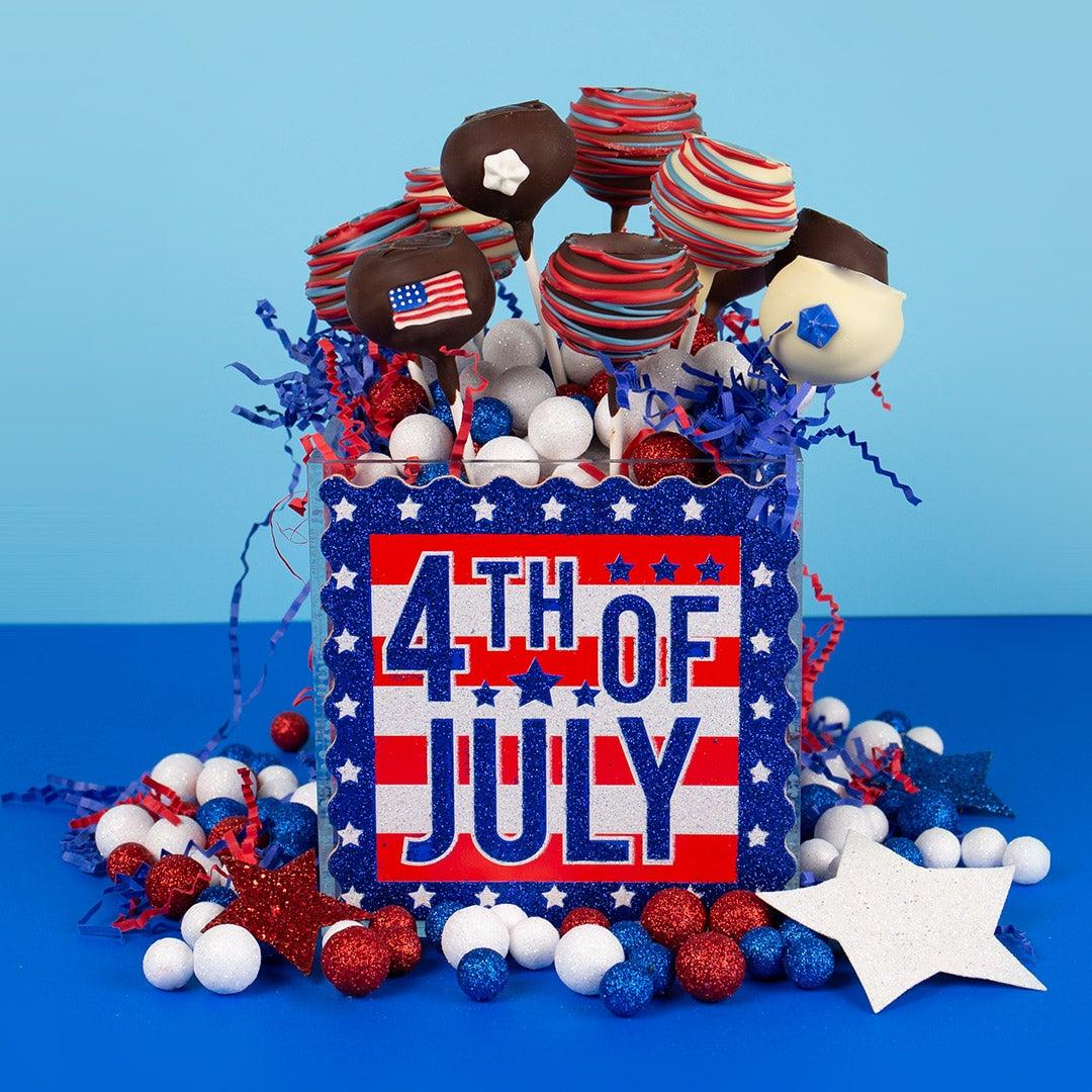 Patriotic 4th of July Cake Pops DIY Centerpiece