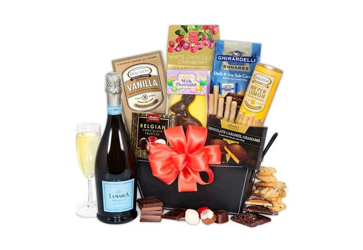The best wine gifts for easter easter champagne chocolates gift basket negle Images