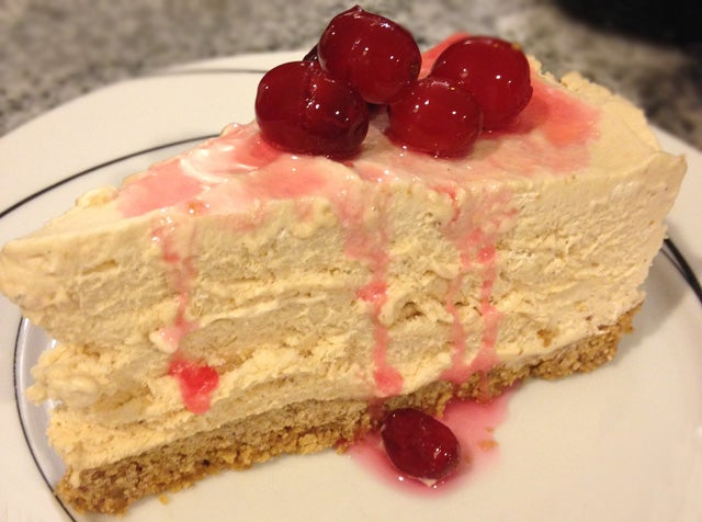 Frozen Maple Mousse Pie with Candied Cranberries Recipe