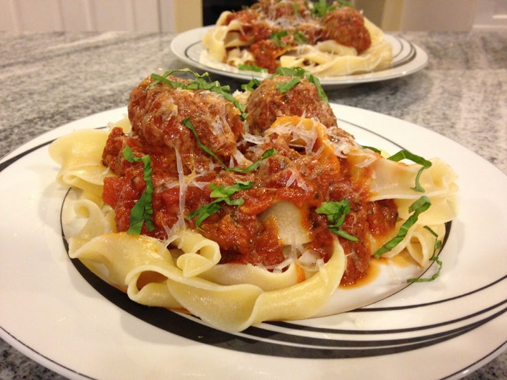 Quick Pasta and Meatballs Recipe