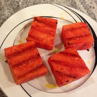 Grilled watermelon chunks