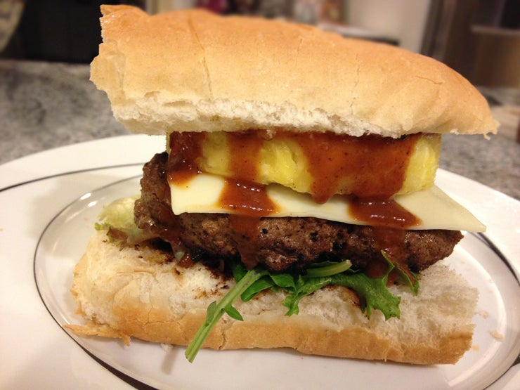 How to Make Pork and Pineapple Burgers