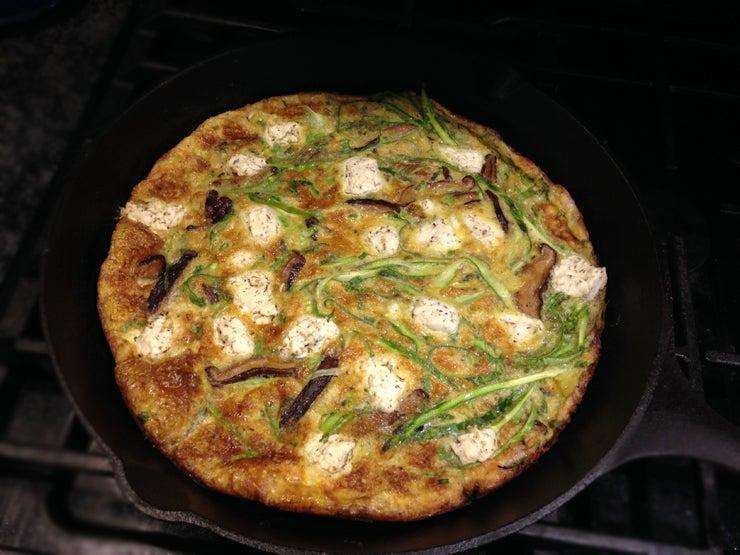 Mushroom & Shaved Asparagus Frittata