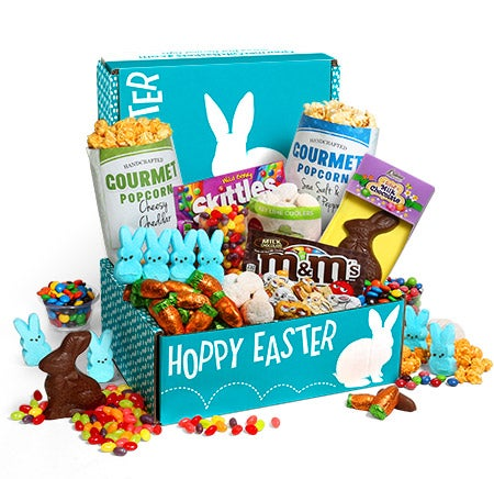 Easter box with candy, popcorn and sweet treats!