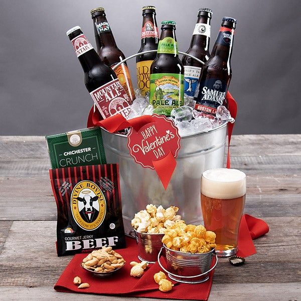 "Product ID: 4500V ""Beer"" My Valentine - 6 Beer Bucket"