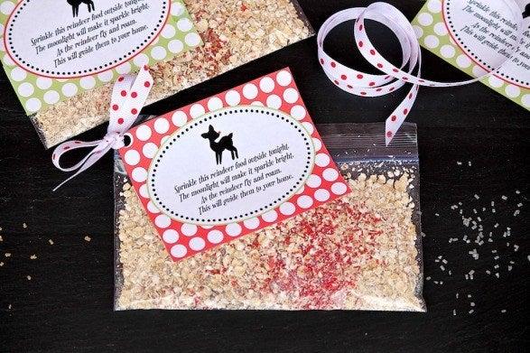 reindeer food in a bag