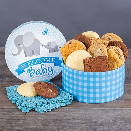 Welcome Baby Boy Brownie Gift Box