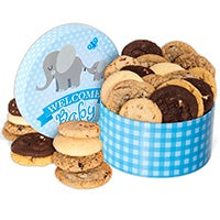 Welcome Baby Boy Cookie Gift Box 8964