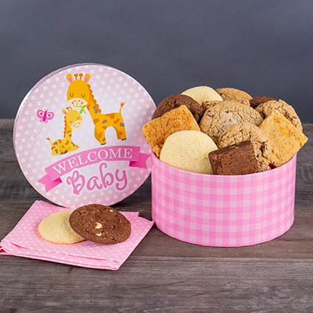 Welcome Baby Girl Brownie Gift Box