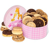 Welcome Baby Girl Cookie Gift Box 8963