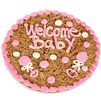 Welcome Baby Girl Cookie Cake 8668