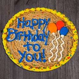Birthday Balloons Cookie Cake 8666