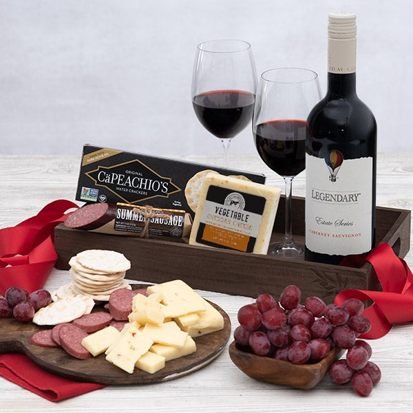 Red Wine Gift Crate for Boss's Day