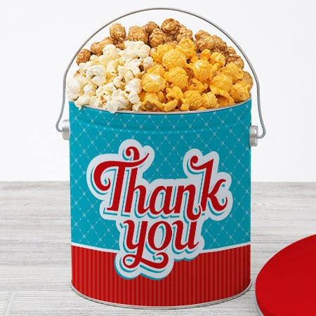 Thanks to the boss popcorn tin ct