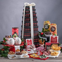 Holiday Decadent Orchard Gift Tower