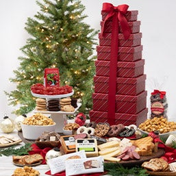 Season's Greetings Gift Tower 6825