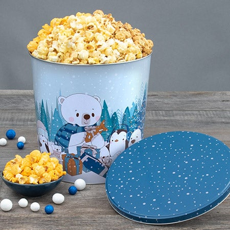 Let It Snow Holiday Popcorn Tin People's