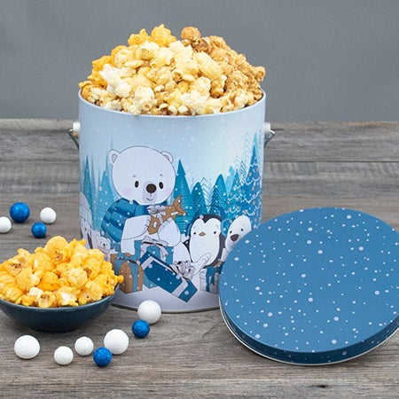 let it snow holiday popcorn tin 7269