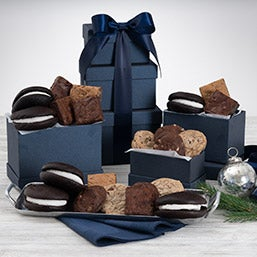 Wintry Mix Baked Goods Gift Tower