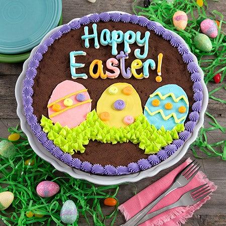 Brownie cake easter egg