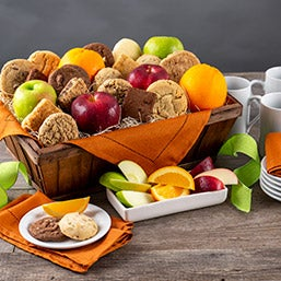 Fruit & Baked Goods Gift Basket 4412