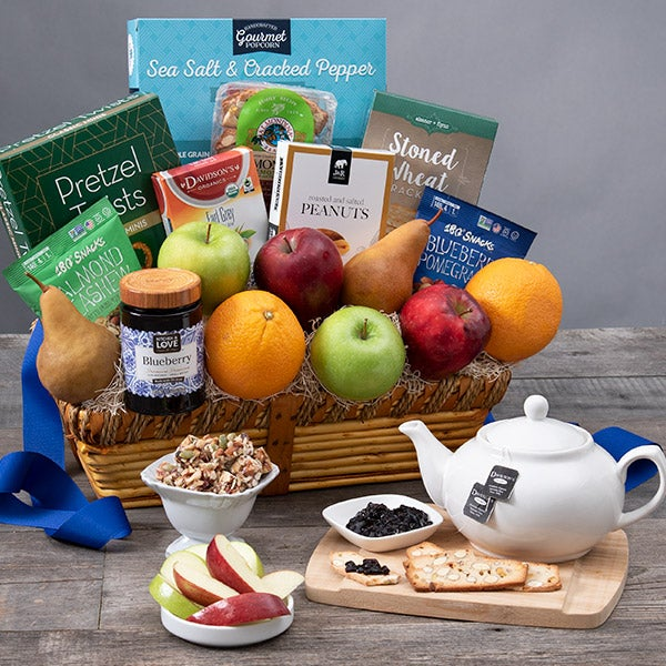 fruit healthy snacks gift basket by gourmetgiftbaskets com