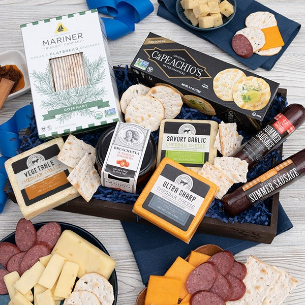 Gourmet meat cheese sampler deluxe by
