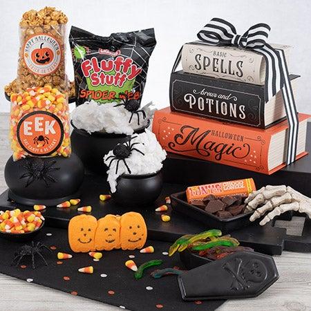 Halloween haunted house gift tower
