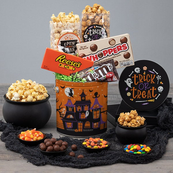 Halloween Spooky Snack Tin Haunted House