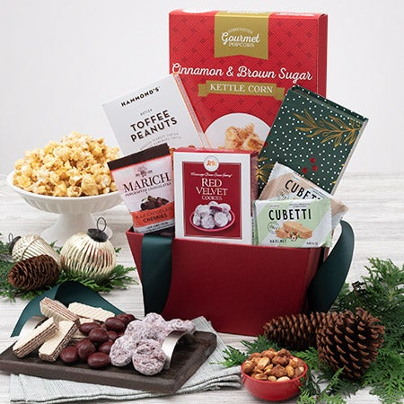 A Taste of Christmas Gift Basket - International