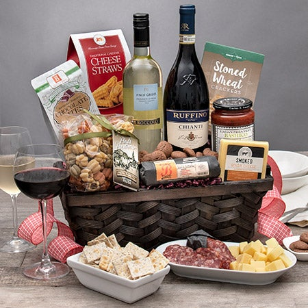 Italian Gift Basket - Wine Duo