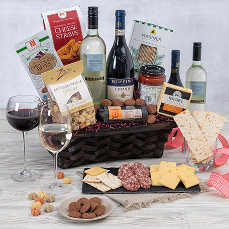 Wine duo italian gift basket by Christmas gift ideas for cooking lovers