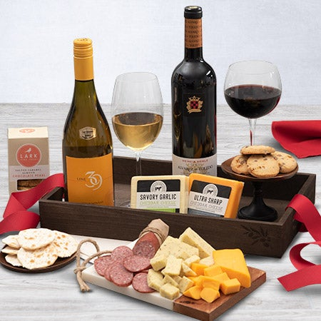 Toasting to the New Year Gift Basket by GourmetGiftBaskets.com
