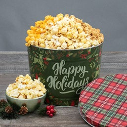 Christmas Ornaments Popcorn Tin