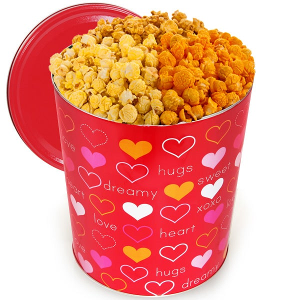 For My Valentine Popcorn Tin