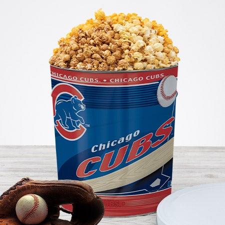 Mlb chicago cubs popcorn tin
