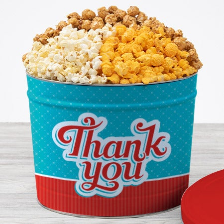 Thank You Popcorn Tin - Traditional 2
