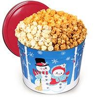 Snowman Gourmet Popcorn Tin