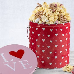 Valentine's Day Chocolate Popcorn Tin