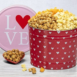 Valentine's Day Popcorn Tin