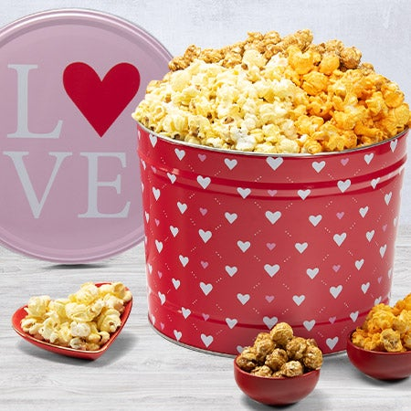 Valentine's Day Popcorn Tin - Traditional 2
