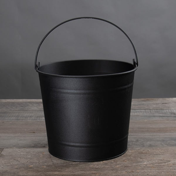 10 Quart Metal Bucket - Black