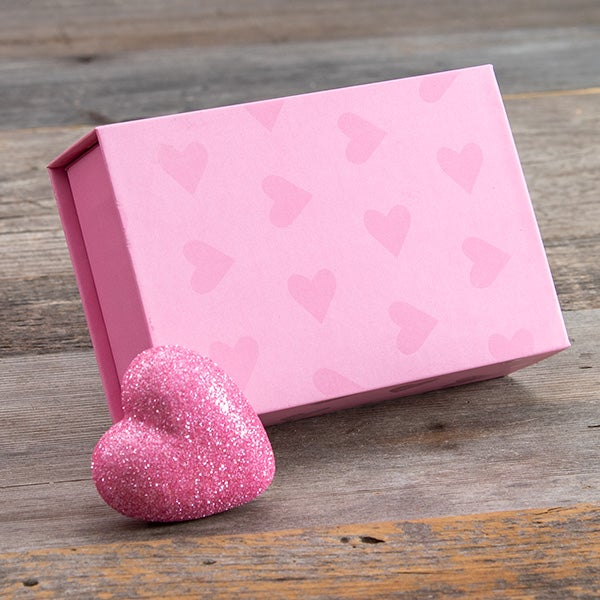 Single Box - Magnetic Closure - Light Pink Gloss Heart (Large PL)