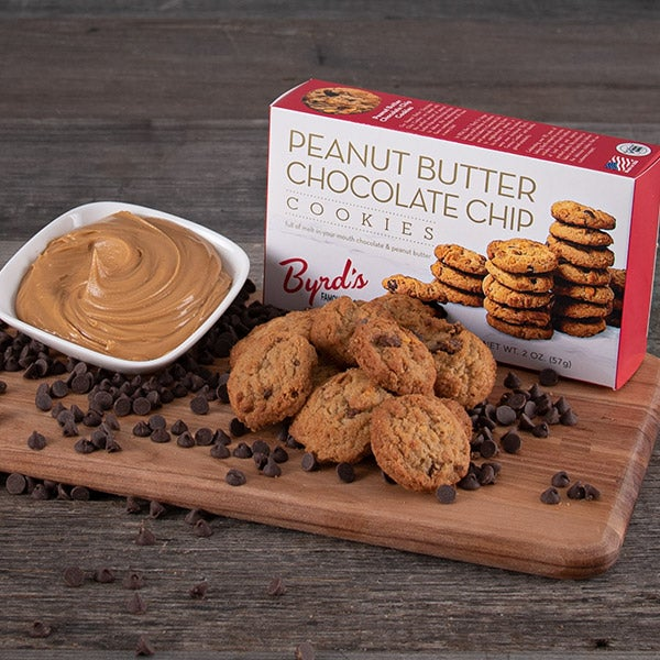 Peanut Butter Chocolate Chip Cookies by Byrd's Famous Cookies - 2 oz. -