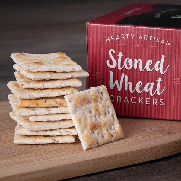 Stoned Wheat Crackers (RED) by Eleanor + Flynn - 4 oz. -