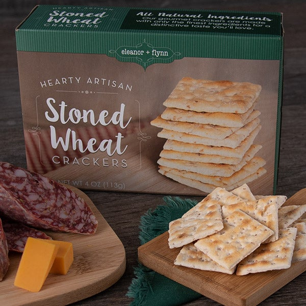Stoned Wheat Crackers (GREEN) by Eleanor + Flynn - 4 oz. -
