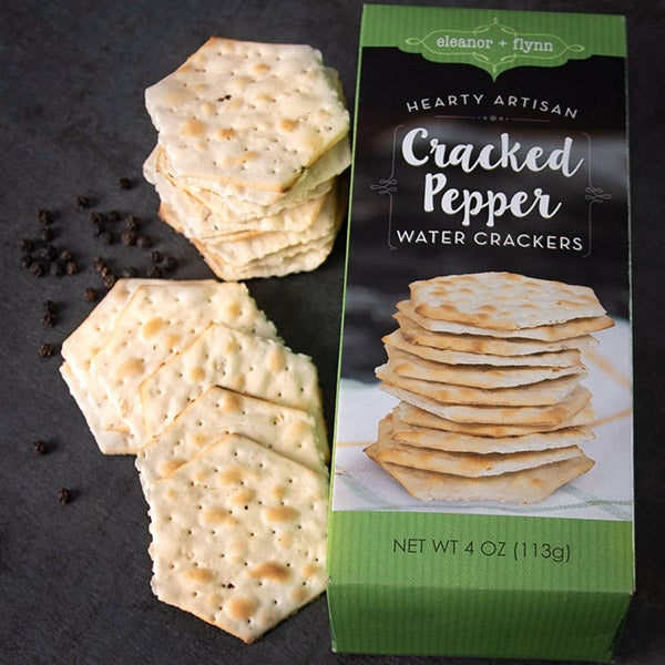 Sea Salt & Cracked Peppercorn Water Crackers by Eleanor & Flynn - 4 oz. -