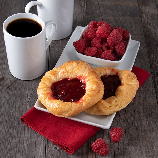 Raspberry Filled Danish by GourmetGiftBaskets.com - 4.5 oz. -