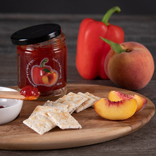 Peach Red Pepper Jelly by Kurtz Orchards - 250 ml -
