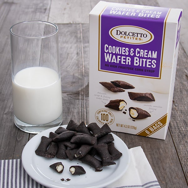Cookies & Cream Wafer Roll Petites by Dolcetto - 4.2 oz. -